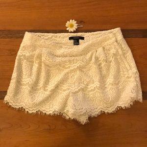 Forever 21 white lace shorts- Medium